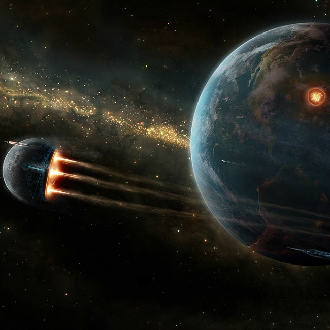 Universe and planets digital art