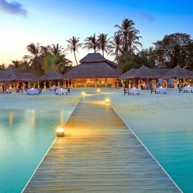 Maldive islands resort