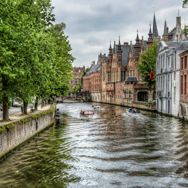 The groenerei canal in bruges belgium