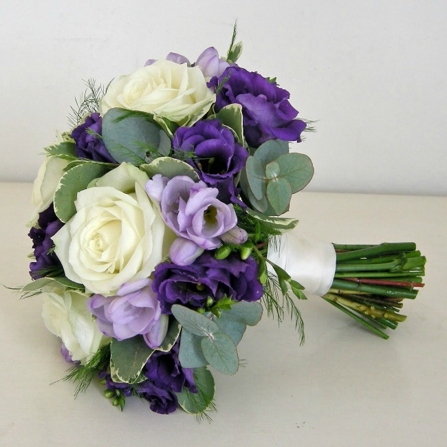 Rose flower purple wedding